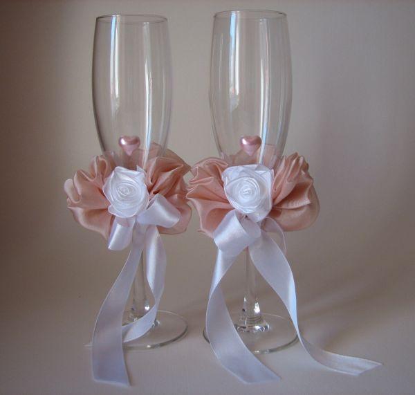 Как сделать своими руками свадебные бокалы и бутылки