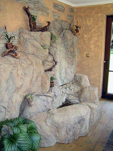 Сооружение искусственных скал, пещер - Сооружение скал по дизайну заказчика. Возможны встраиваемые водоемы, водопады, фонтаны.