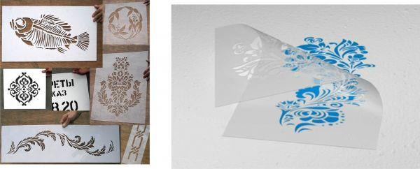 Трафареты для росписи печи