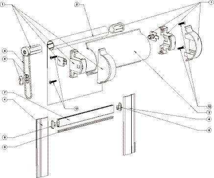 Простой ручной механизм рулонной шторы
