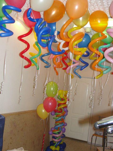 Как сделать шарики к потолку
