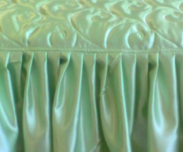 Как сшить покрывало с оборкой на кровать 512
