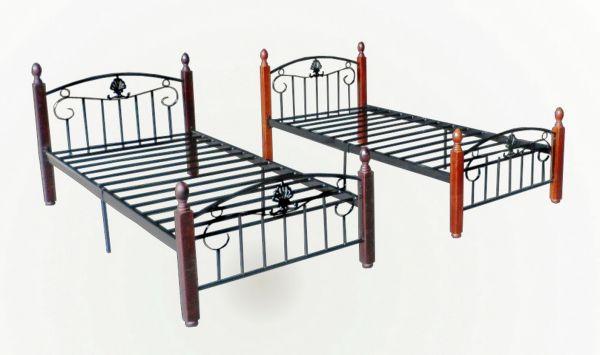 Односпальная металлическая кровать своими руками