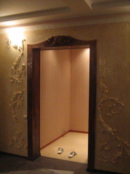 Оформление дверного проема своими руками фото