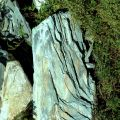 Алтайский натуральный, ландшафтный, природный камень-сланец, зеленого цвета: глыба.