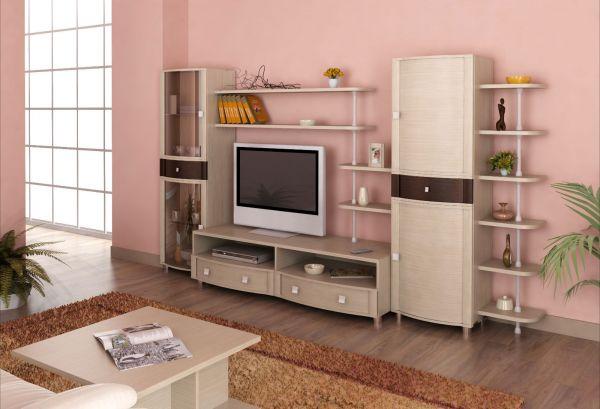 Корпусная мебель для гостинной «Премьера» - Вариант комплектации 006