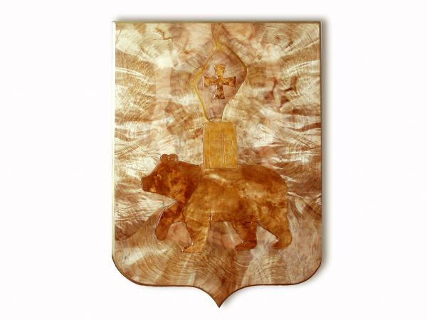 Герб Перми берёзовый кап Црева Цвет