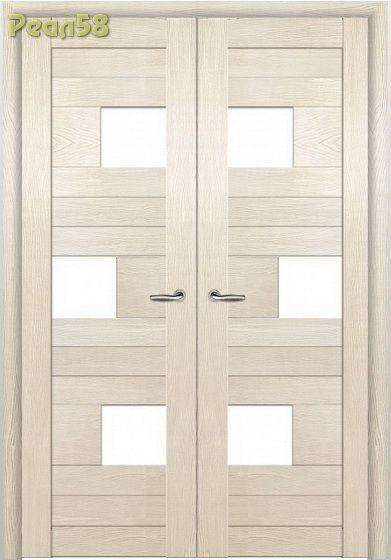двухстворчатая дверь, МД 104, чёрное стекло + 300руб