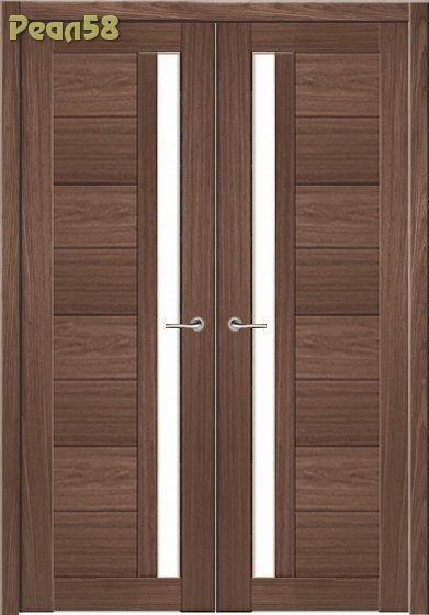 двухстворчатая дверь, МД 106, чёрное стекло + 300руб
