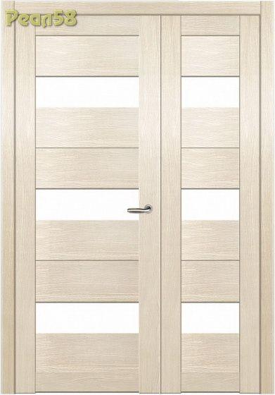 двухстворчатая дверь 40 и 80, МД 103, чёрное стекло + 300руб
