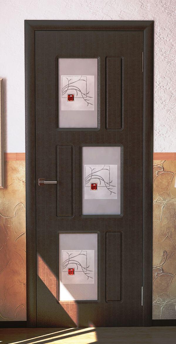 дверь межкомнатная П9 до остеклённая
