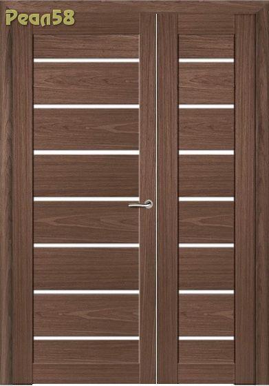 двухстворчатая дверь 40 и 80, МД 102, чёрное стекло + 200руб