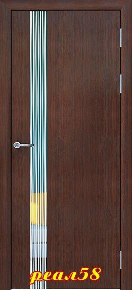 Винетта с зеркалом с 2-х сторон, рисунок дождь