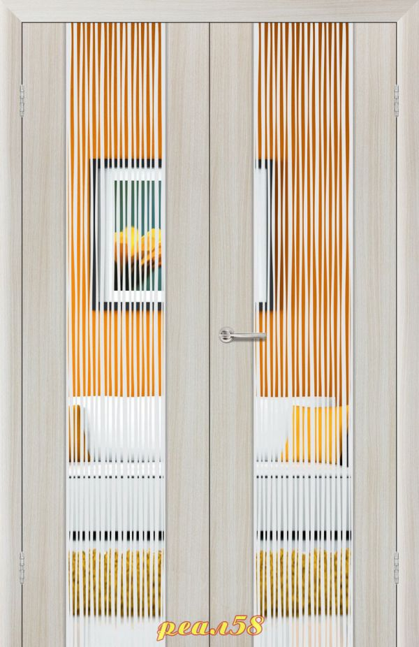 Верба двухстворчатая (двойная) с зеркалом с 2-х сторон, рисунок дождь
