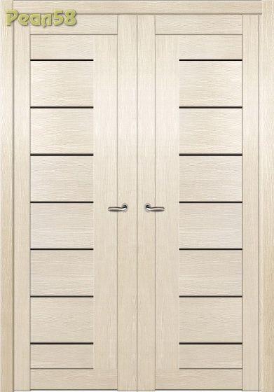 двухстворчатая дверь, МД 102, чёрное стекло + 100руб