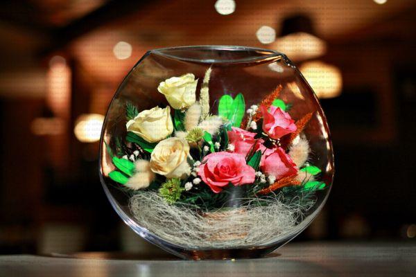 Живые цветы в вакууме в стекле своими руками