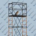 Вышка-тура на диагоналях с рабочей площадкой 0,7 *1,6м, высотой до 9,6м