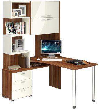 Угловой компьютерный стол на два места ср-500 м.