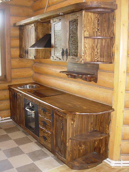 Как построить кухню на даче из дерева