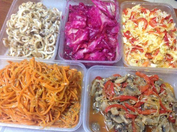 Производство салатов по корейски