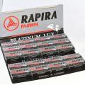 Лезвия Rapira Platinum Lux для Т-образной бритвы. Упаковка 20 пачек по 5 шт.=100