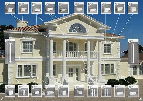 Декор для фасада из пенопласта