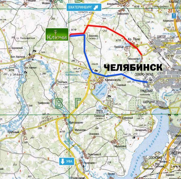 Челябинская где находится