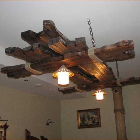 Потолочный светильник своими руками из дерева - Mdoy129.ru