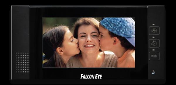 Falcon Eye FE-76 цветной домофон в черном корпусе, 7-дюймовый цифровой ЖК-дисплей, 4-х проводная схема подключения...