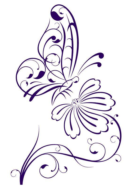 Рисунки цветов для декора