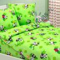 Детское постельное белье Панды зеленые