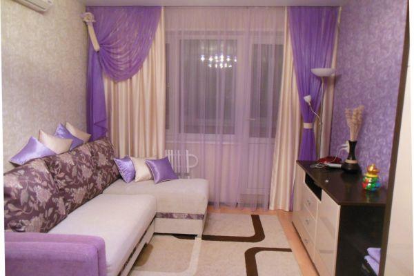 Сиреневые шторы в гостиную фото