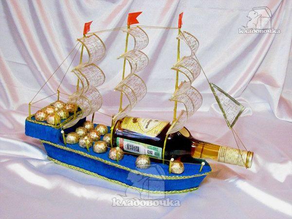 Как сделать корабль из конфет с бутылкой своими руками пошагово