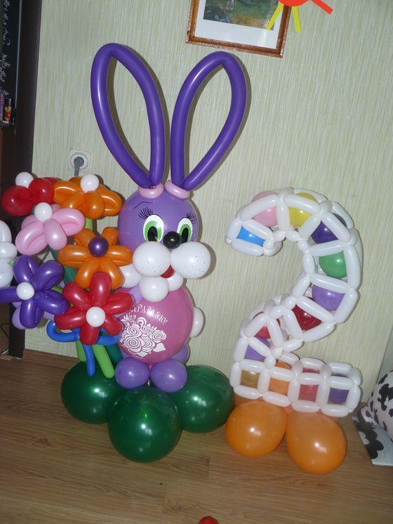 Заяц из воздушных шаров мастер класс с пошаговым