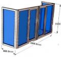 Балкон П-образный с установкой. Стеклопакет однокамерный 32 мм