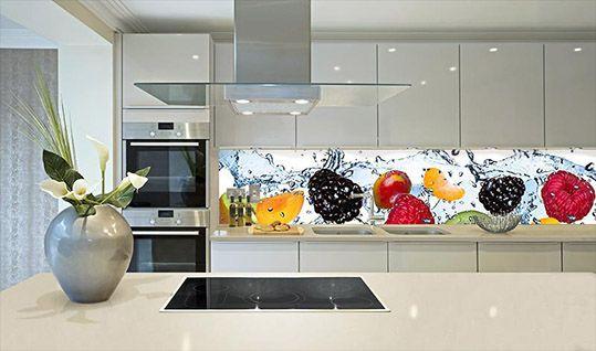 Фартук из стекла в дизайне кухни