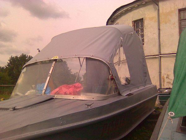 как перепахать тент сверху лодку