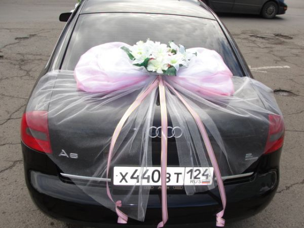 Фото оформление машин на свадьбу