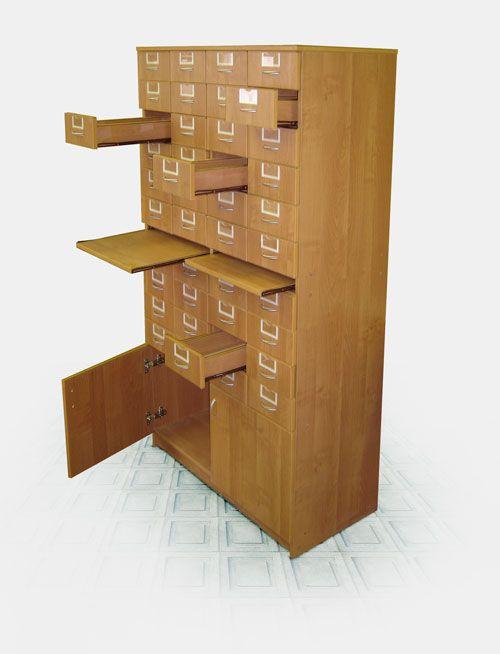 """Шкаф библиотечный """"ам-06"""" (картотека) - габариты: 900х450х18."""