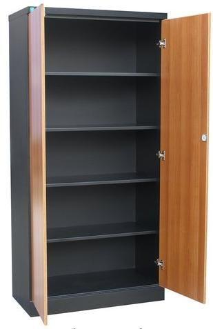 Шкаф офисный металлический для документов с фасадом из лдсп .