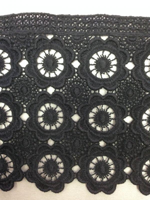 01d197874f6 Кружево плотное хлопковое черное 17 см. - Код  303 Состав  100 ...
