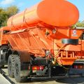 Snow removal truck on the chassis of KAMAZ-43118, KAMAZ-65115