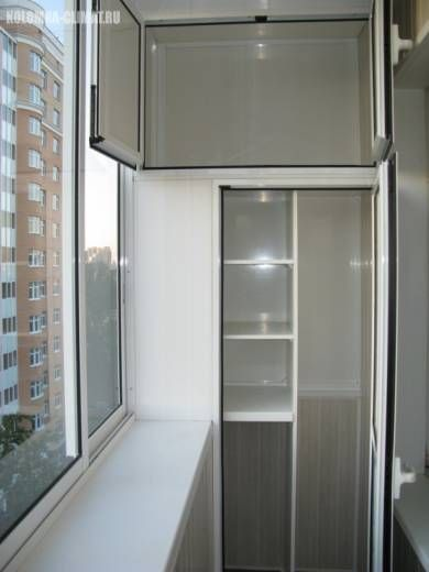 Как сделать на балконе шкафчики фото 940
