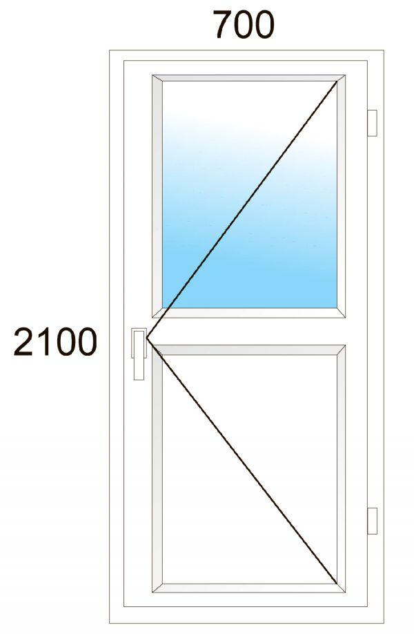 Дверь пвх veka - изделие размером 70*210см, из профиля - vek.