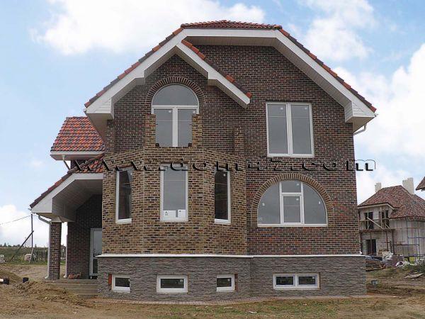 Дома из кирпича - строительство загородных домов (коттеджей).