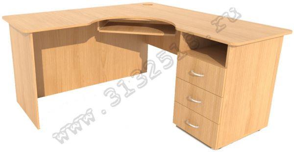 Стол компьютерный угловой - удобный компьютерный стол с тумб.
