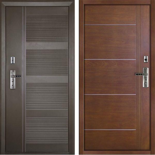 металлические ламинированные двери за 6500 рублей