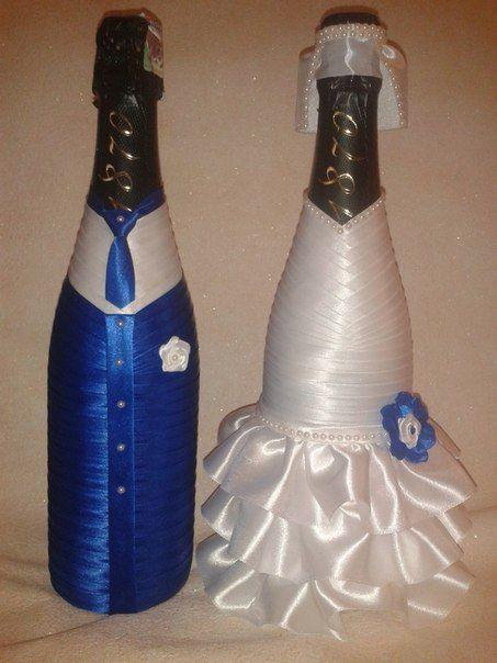 Украшение бутылок лентами и кружевом - Поиск в Google 34