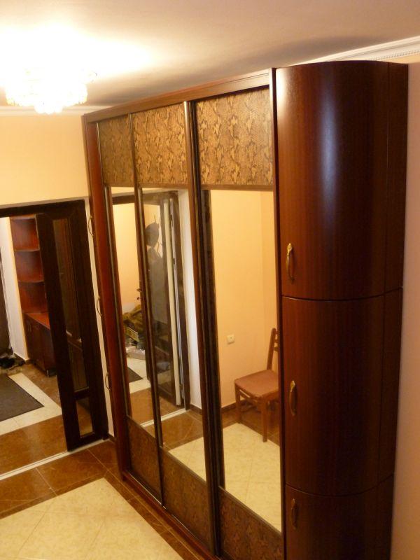 Шкаф-купе в прихожую - шкаф-купе двери кожзам+ зеркало.