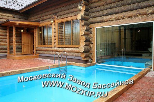 большие бани с бассейном и бильярдной под ключ